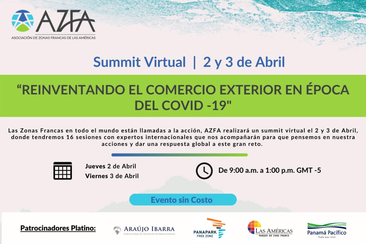 """Evento Virtual de Zonas Francas """"Reinventándonos y tomando acciones en la época del COVID- 19"""""""
