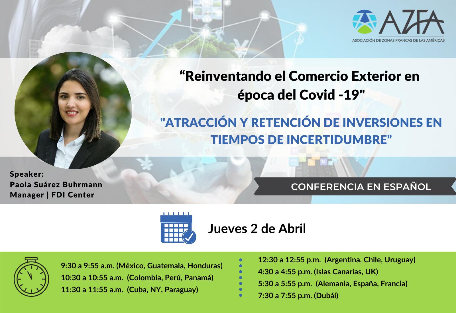 Virtual Trade Summit | Atracción y retención de inversiones en tiempos de incertidumbre